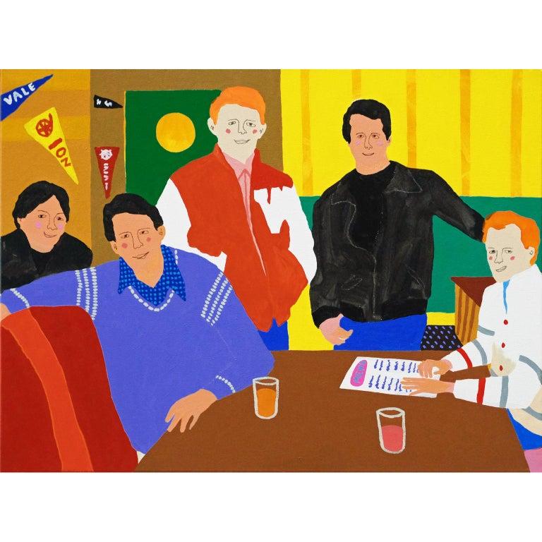 Modern 'Happy Days' Portrait Painting by Alan Fears Pop Art For Sale