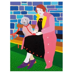 'Happy Together' Portrait Painting by Alan Fears Pop Art Dog Poodle