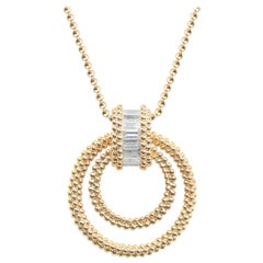 Harakh 0.65 Carat Colorless Baguette Diamond 18 Karat Gold Pendant Necklace