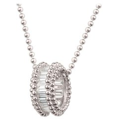 Harakh 0.70 Carat Colorless Baguette Diamond 18 Karat Gold Pendant Necklace