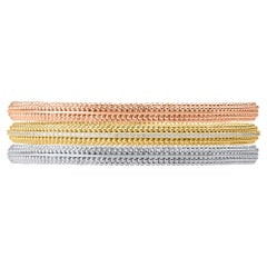 Harakh 1 Carat Colorless Diamond 18 Karat Tricolor Sunlight Stackable Bangles