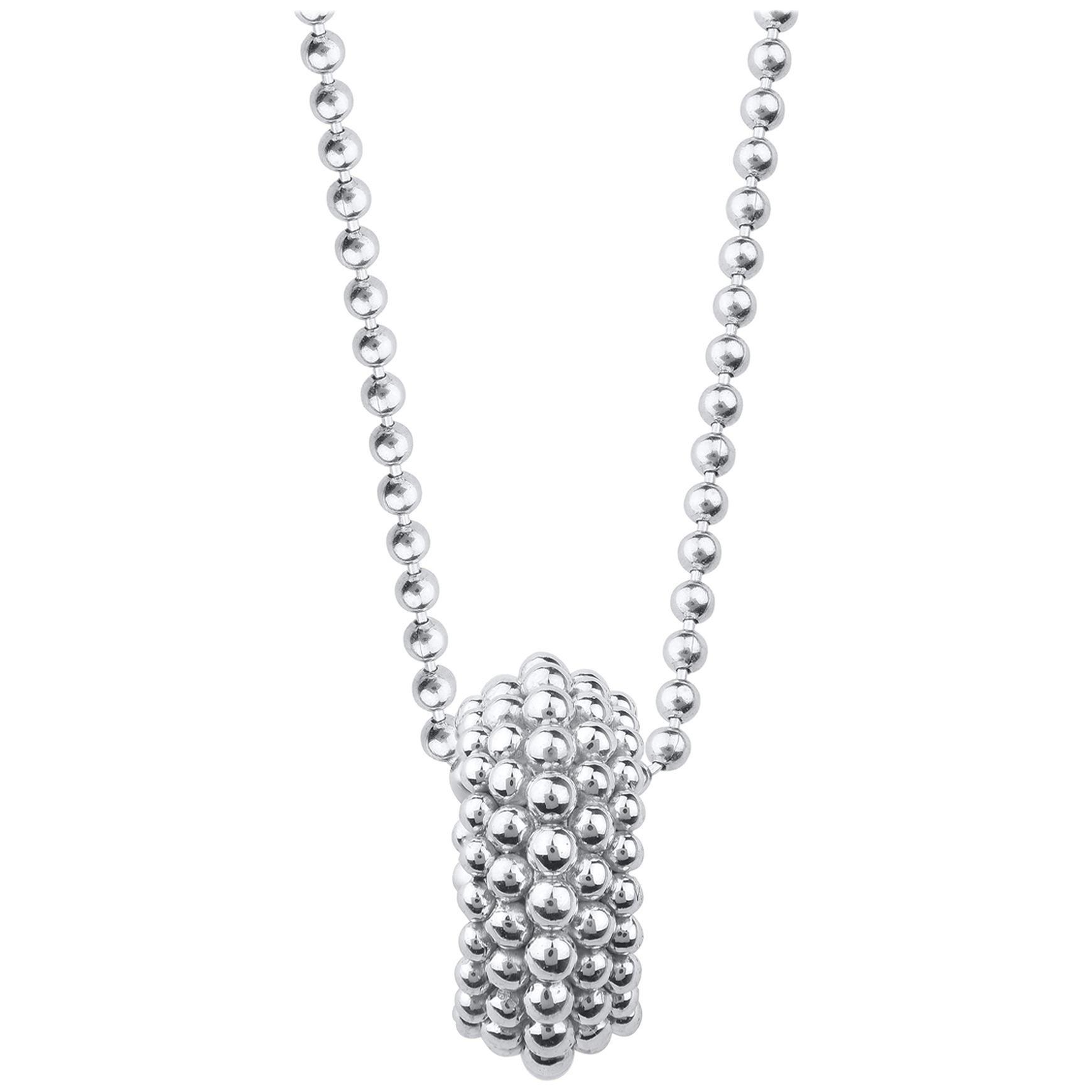 Harakh 18 Karat White Gold Sunlight Pendant Necklace