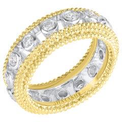 Harakh 18 Karat Yellow Gold Sunlight Colorless Diamond Full Eternity Bezel Ring