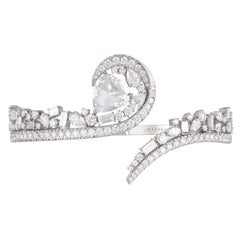 Harakh Colorless Diamond GIA Certified Rose Cut White Gold Bracelet