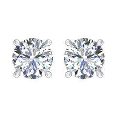 Harakh GIA Certified 0.54 Carat F Color VVS1 Clarity 18 KT Diamond Stud Earrings