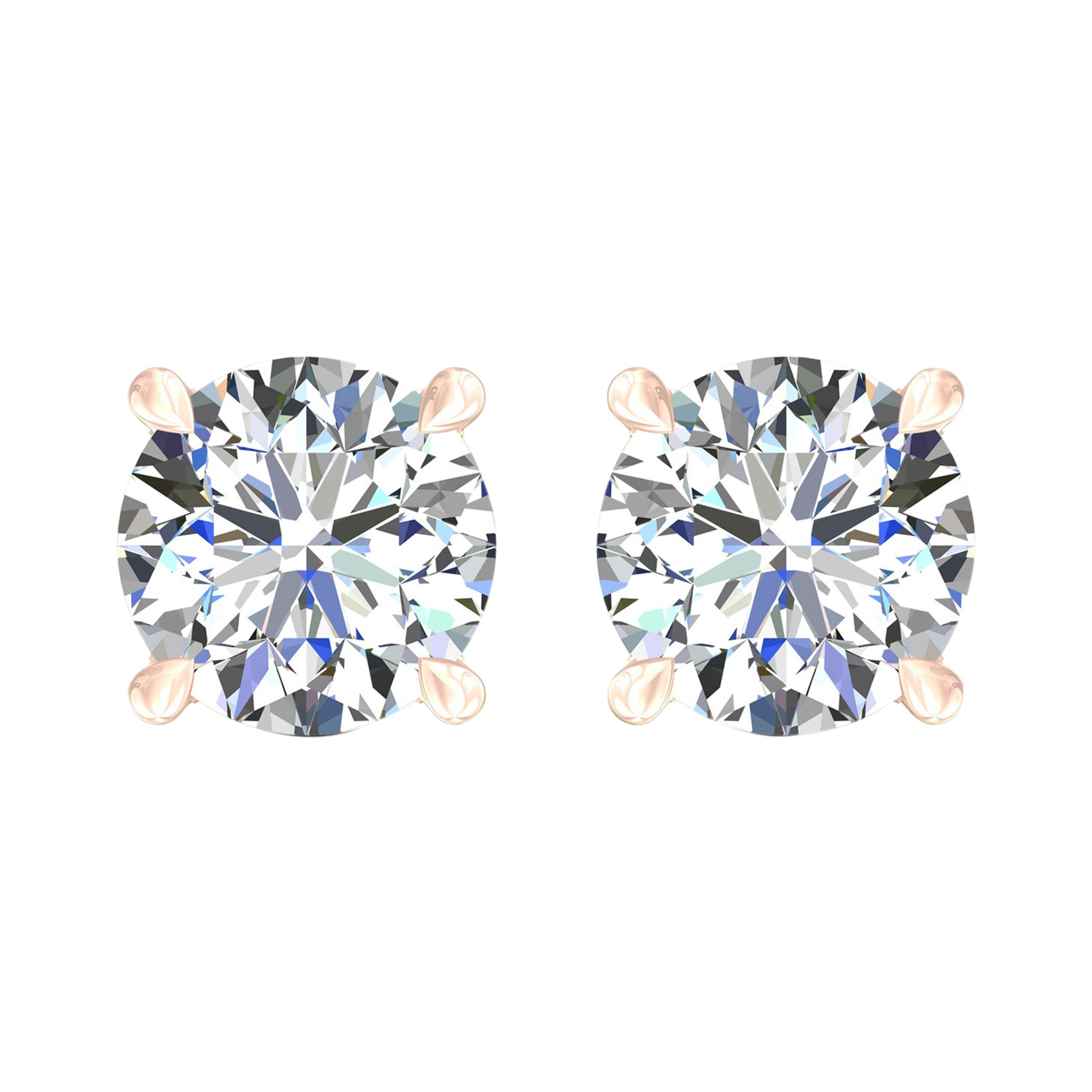 Harakh GIA Certified 0.54Carat F Color VVS1 Clarity 18 KT Diamond Stud Earrings