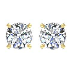 Harakh GIA Certified 0.75 Carat EF Color VS1 Clarity 18 KT Diamond Stud Earrings
