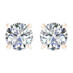 Harakh GIA Certified 0.80 Carat D-E Color VS2 Clarity 18KT Diamond Stud Earrings