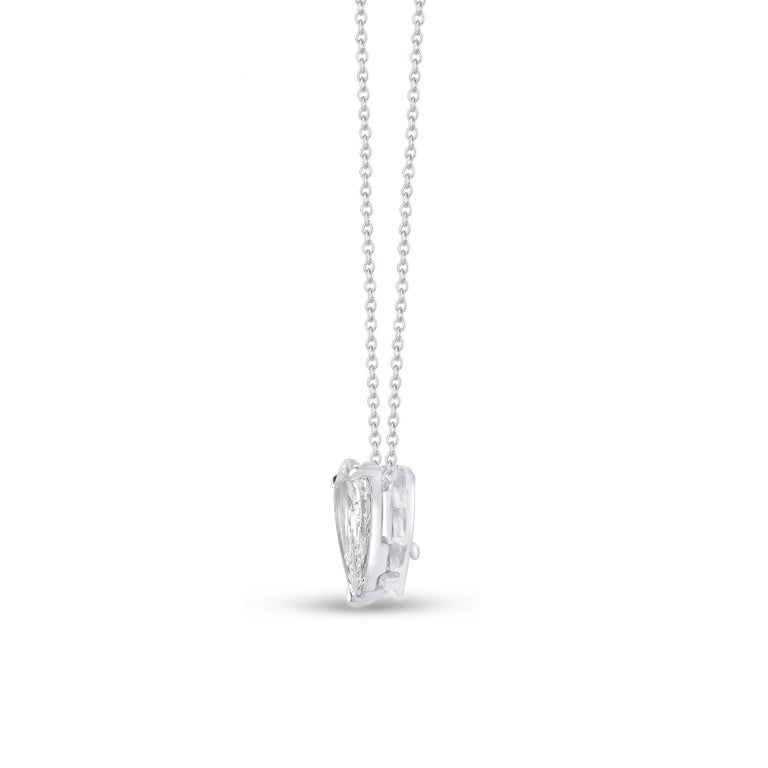 Harakh GIA Certified E/VS2 Diamond Rose Cut White Gold Pendant Necklace In New Condition In New York, NY