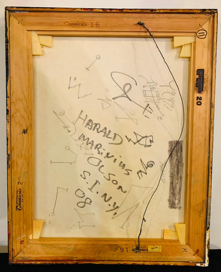 Harald Marinius Olson Abstract Composition, Signed by Artist For Sale 3