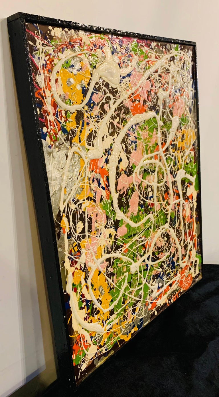 Harald Marinius Olson Abstract Composition, Signed by Artist For Sale 2