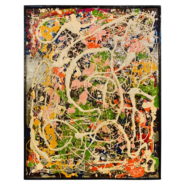 Harald Marinius Olson Abstract Composition, Signed by Artist For Sale