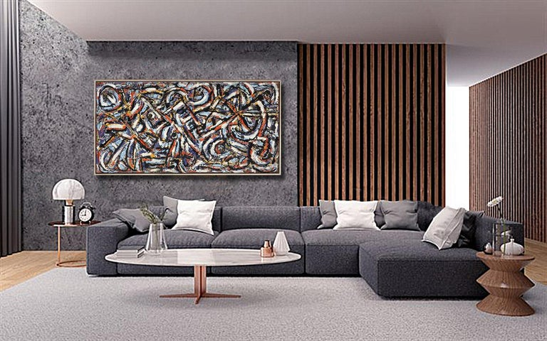 The Journey, 48x96, - Painting by Harald Marinius Olson