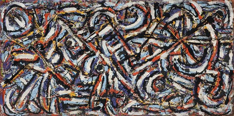 Harald Marinius Olson Abstract Painting - The Journey, 48x96,