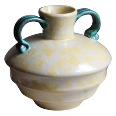 Harald Östergren, Vase, Glazed / Painted Stoneware, Upsala-Ekeby, Sweden, 1930s