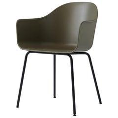 Harbor Chair, Black Legs, Green Shell