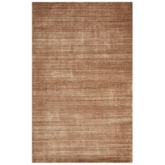 Harbor, Contemporary Solid Loom Knotted Area Rug, Caramel