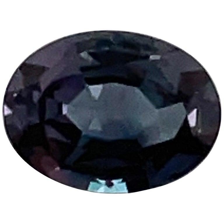 HARBOR D. Oval Shape Alexandrite Loose Stone 1.12 Carat For Sale