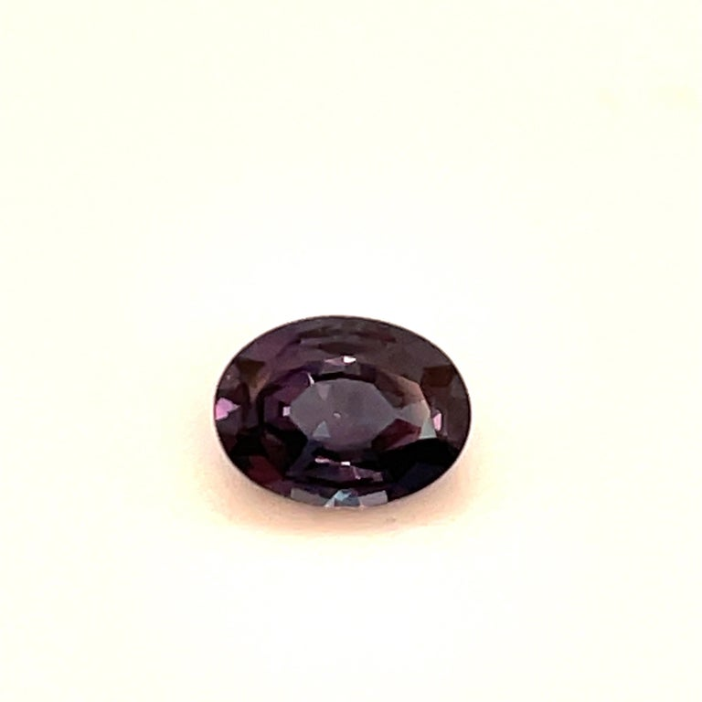 A lovely 1.12 Carat oval shape Alexandrite. Can be set in a ring or pendant.  More shapes and sizes available.  Email for inventory.