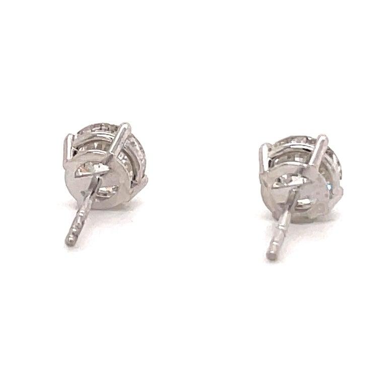 Harbor Diamonds Diamond Stud Earrings 2.04 Carat I SI3-I1 14 Karat White Gold For Sale 1