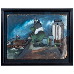 Harbor Scene by Jean Artman