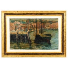 Harbor Scene Painting by BW Wells