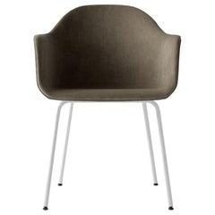 Harbour Chair, Welded White Legs and Grey Velvet 'CA7832/078'