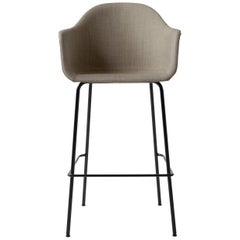 "Harbour Chair, Bar Height Base in Black Steel, Kvadrat ""Remix 2"" #233 'Sandy Br'"