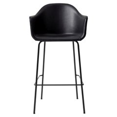 "Harbour Chair, Bar Height Base in Black Steel, Nevotex ""Dakar"" #0842 ;Black'"