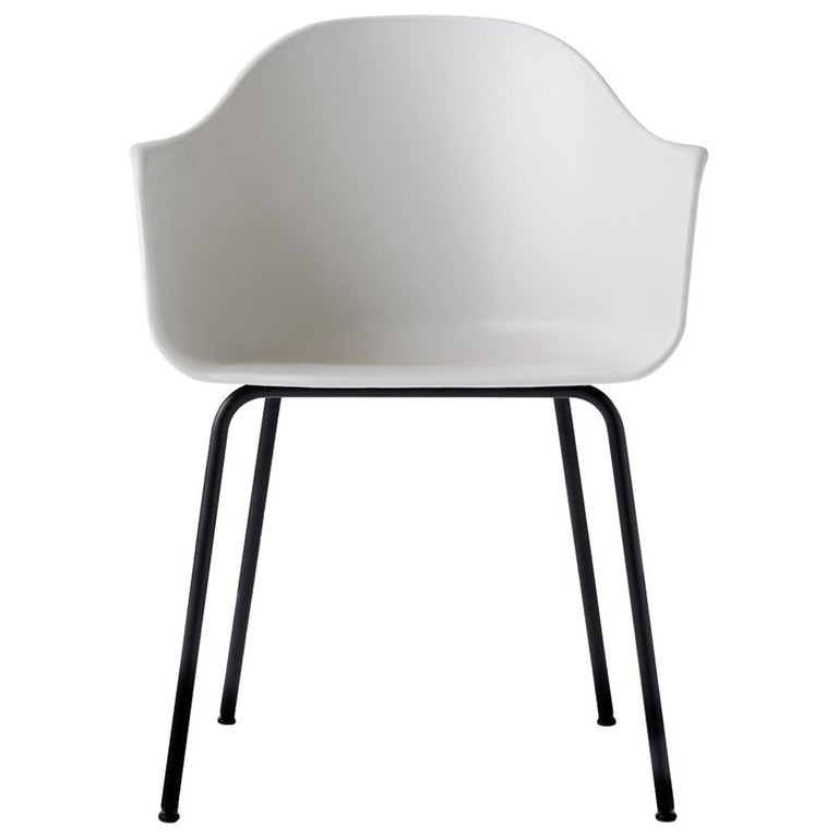 Harbour Chair, Black Legs, White Shell For Sale At 1stdibs