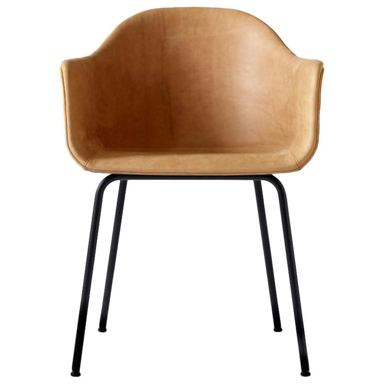 Harbour Chair Black Steel Legs And A Leather Covered