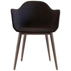 Harbour Chair, Dark Oak Legs, Charcoal Fabric