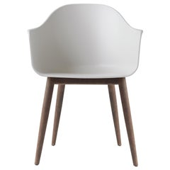Harbour Chair, Dark Oak Legs, Light Grey Shell