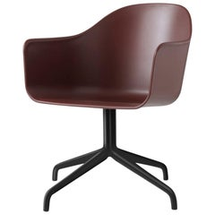 Harbour Chair, Hard Shell Chairs with Black Steel Swivel Base and Casters SS2019