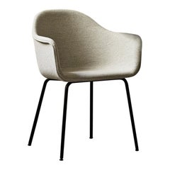 Harbour Chair, Legs in Black Steel, Grey Fabric by Norm Architects