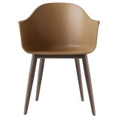Harbour Chair, Legs in Dark Oak with Khaki Shell