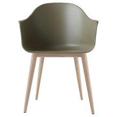 Harbour Chair, Natural Oak, Green Shell