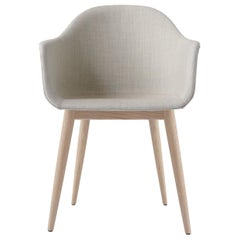 Harbour Chair, Natural Oak, Grey Fabric