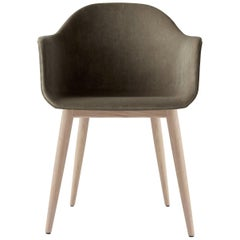 Harbour Chair, Natural Oak Legs and Grey Velvet 'CA7832/078'