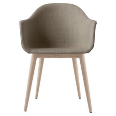 Harbour Chair, Natural Oak, Sandy Brown Fabric