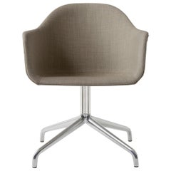"Harbour Chair, Swivel Base in Polished Aluminum, Kvadrat ""Remix 2"" #233 (Sandy"