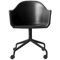 "Harbour Chair Swivel Base with Black Steel Casters Nevotex ""Dakar"" #0842 'Black'"