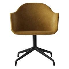 Harbour Chair, Swivel Chair with Black Welded Steel & Orange Velvet 'CA7832/060'
