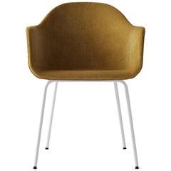 Harbour Chair, Welded White Legs and Orange Velvet 'CA7832/060'