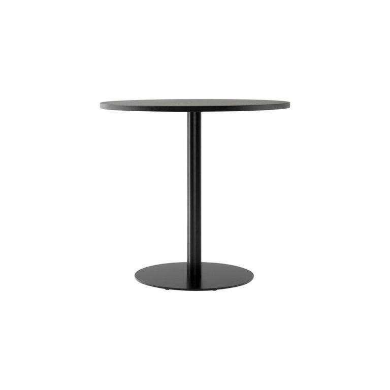 Harbour Column Dining Table, Table Top in Black Painted Oak Veneer For Sale