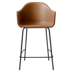 Harbour Counter Chair, with Black Welded Steel and Cognac Leather 'Dakar 0250'