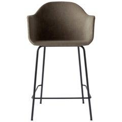 Harbour Counter Chair, Black Welded Steel & Grey Velvet 'CA7832/078'