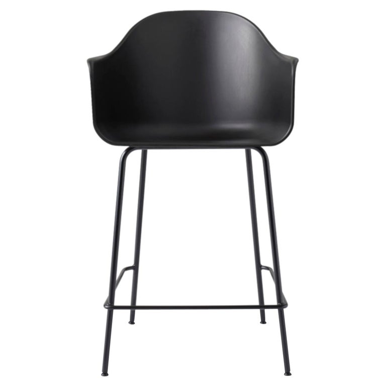 Stupendous Harbour Counter Chair With Black Welded Steel Legs And Black Shell Cjindustries Chair Design For Home Cjindustriesco