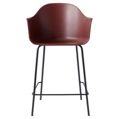 Harbour Counter Chair, Black Welded Steel Legs and Red Shell