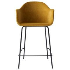 Harbour Counter Chair, Black Welded Steel & Orange Velvet 'CA7832/060'